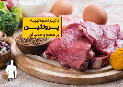 چگونه نحوه ی تهیه پروتئین بر هضم و جذب آن تاثیر میگذارد؟